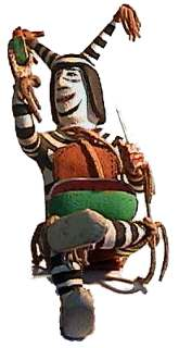 Clown Kachina - aka Koshari, Koyala, Hano, or Tewa